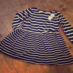 Toddler girl stripe dress. Size 3T navy and white